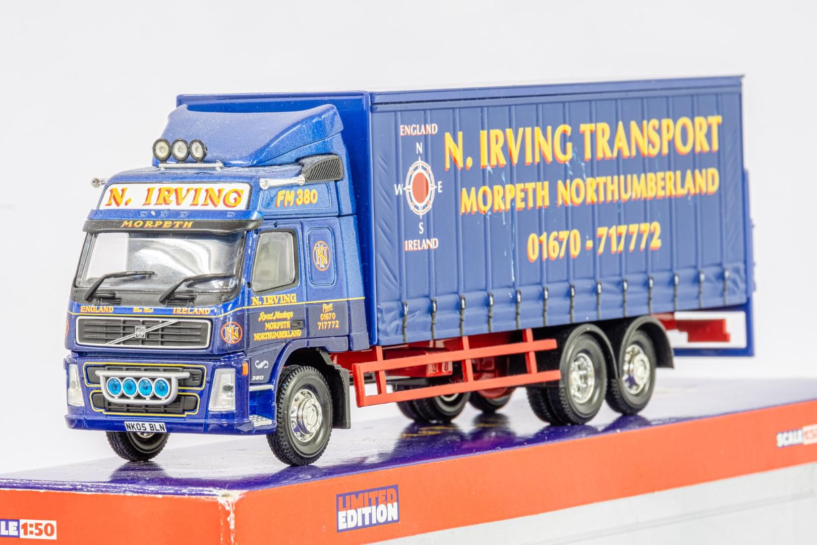 Corgi Volvo FM Curtainside - N.Irving Transport - - Image 4 of 5