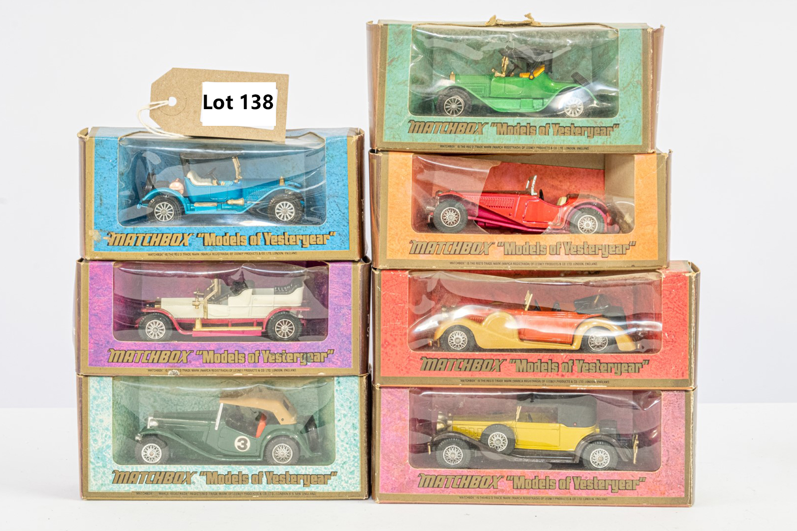7 x Matchbox Boxed Model Cars - Models of Yesteryear