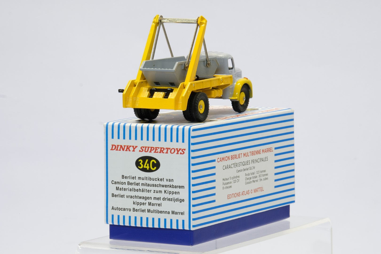 Atlas Dinky Toys Camion Berliet Multibenne Marrel - Image 3 of 3
