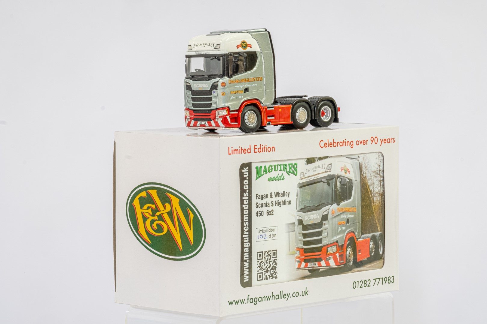 WSI Scania S Highline 450 6x2 Twin Steer Fagan & Whalley - Mint condition - Image 2 of 3