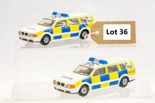 Husky 2 x Assorted Loose Police Cars