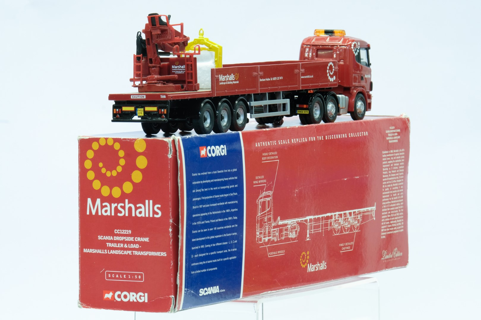 Corgi Marshalls Landscape Transformers Scania Dropside Crane Trailer & Load - Image 3 of 3