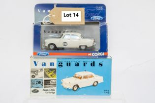 Vanguards 2 Boxed Car Models - Austin A60 Cambridge & Ford Zephyr