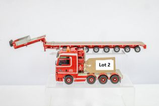MAN 8x4 Give Svaergods Finn Hansen & Trailer - Lion Toys Trailer - No Box