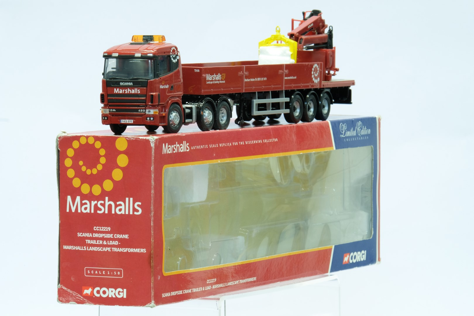 Corgi Marshalls Landscape Transformers Scania Dropside Crane Trailer & Load - Image 2 of 3