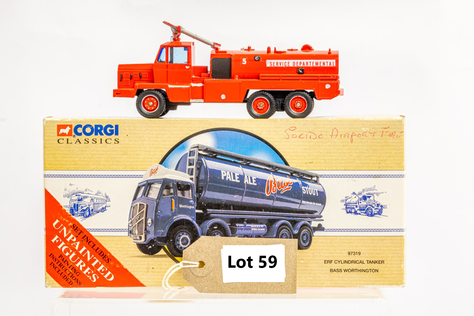 Solido Berliet GBC34 Camiva - Airport Fire - In Wrong Box