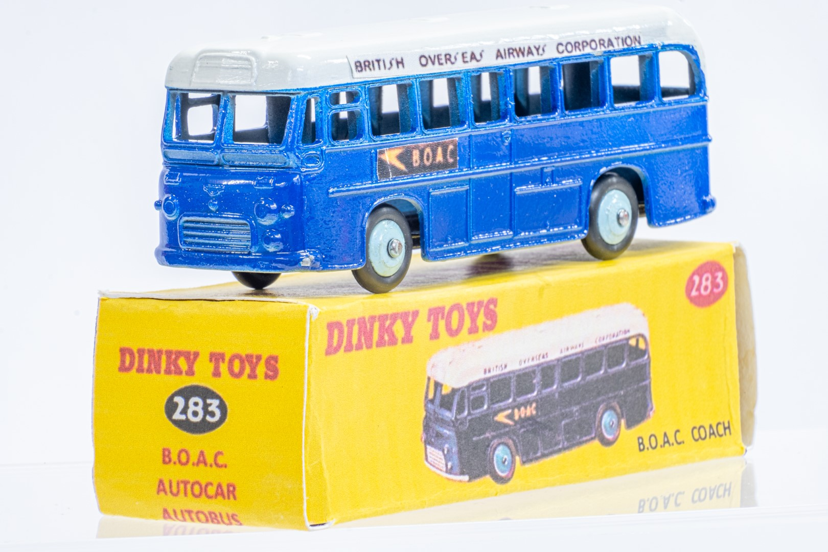 Dinky Single Decker Bus - B.O.A.C. - Code 3 & Reproduction Box - Image 2 of 7
