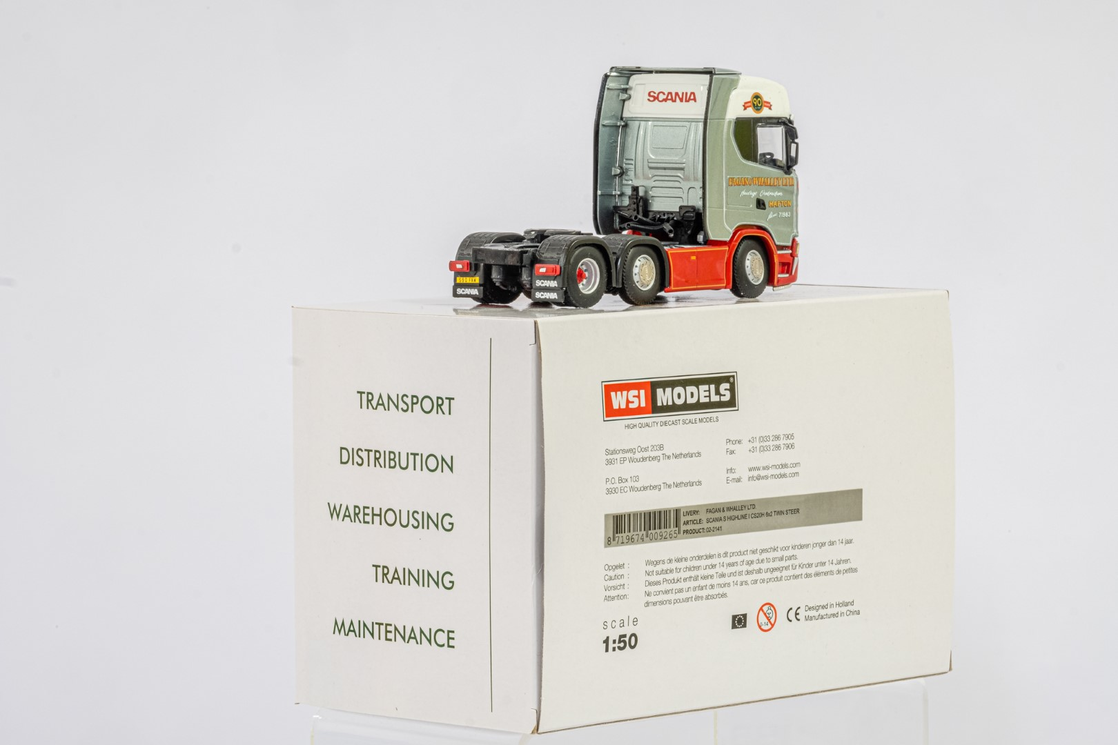 WSI Scania S Highline 450 6x2 Twin Steer Fagan & Whalley - Mint condition - Image 3 of 3