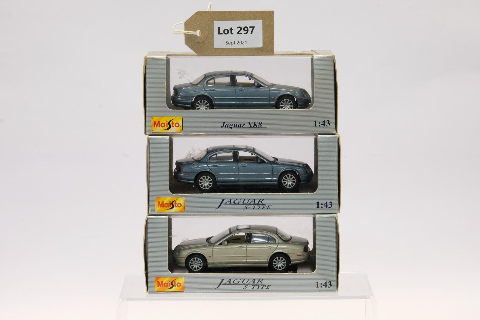 Maisto 3 Jaguar Models