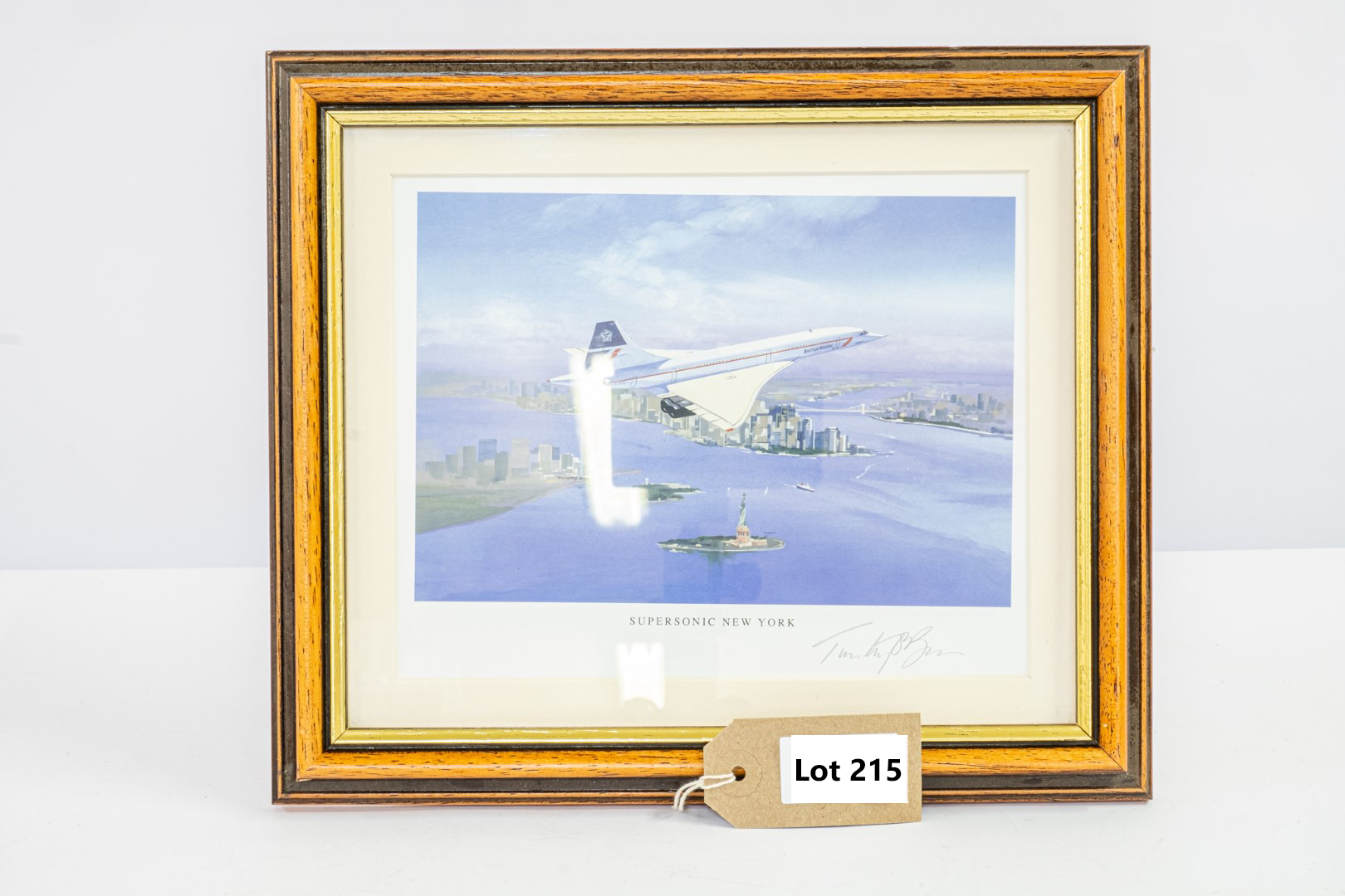 """Westminster Concorde Supersonic New York Limited Edition Framed Print - 11"""" x 9.5"""""""