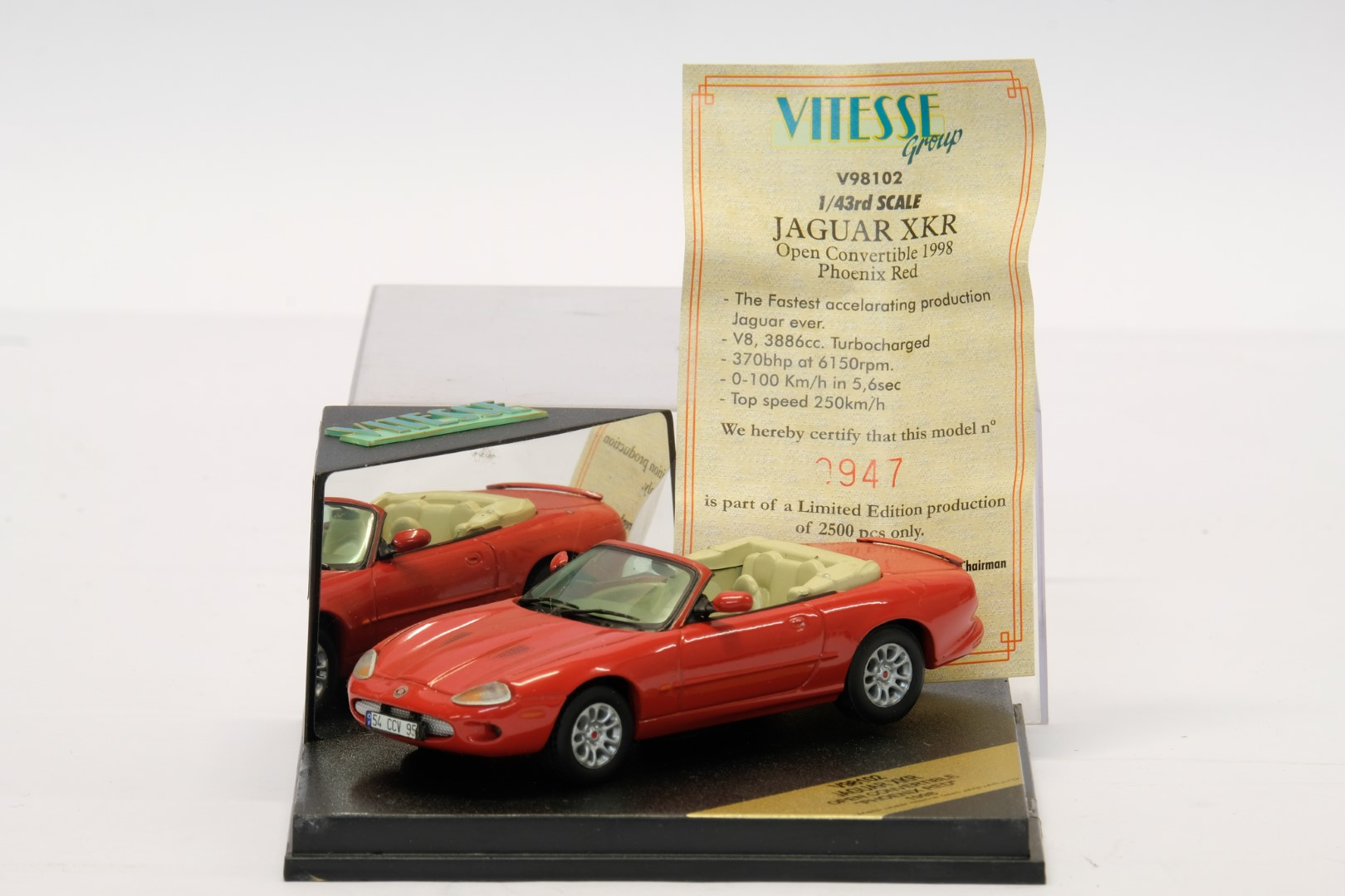 Vitesse Jaguar XKR Open Convertible 1998 Red - Image 2 of 2