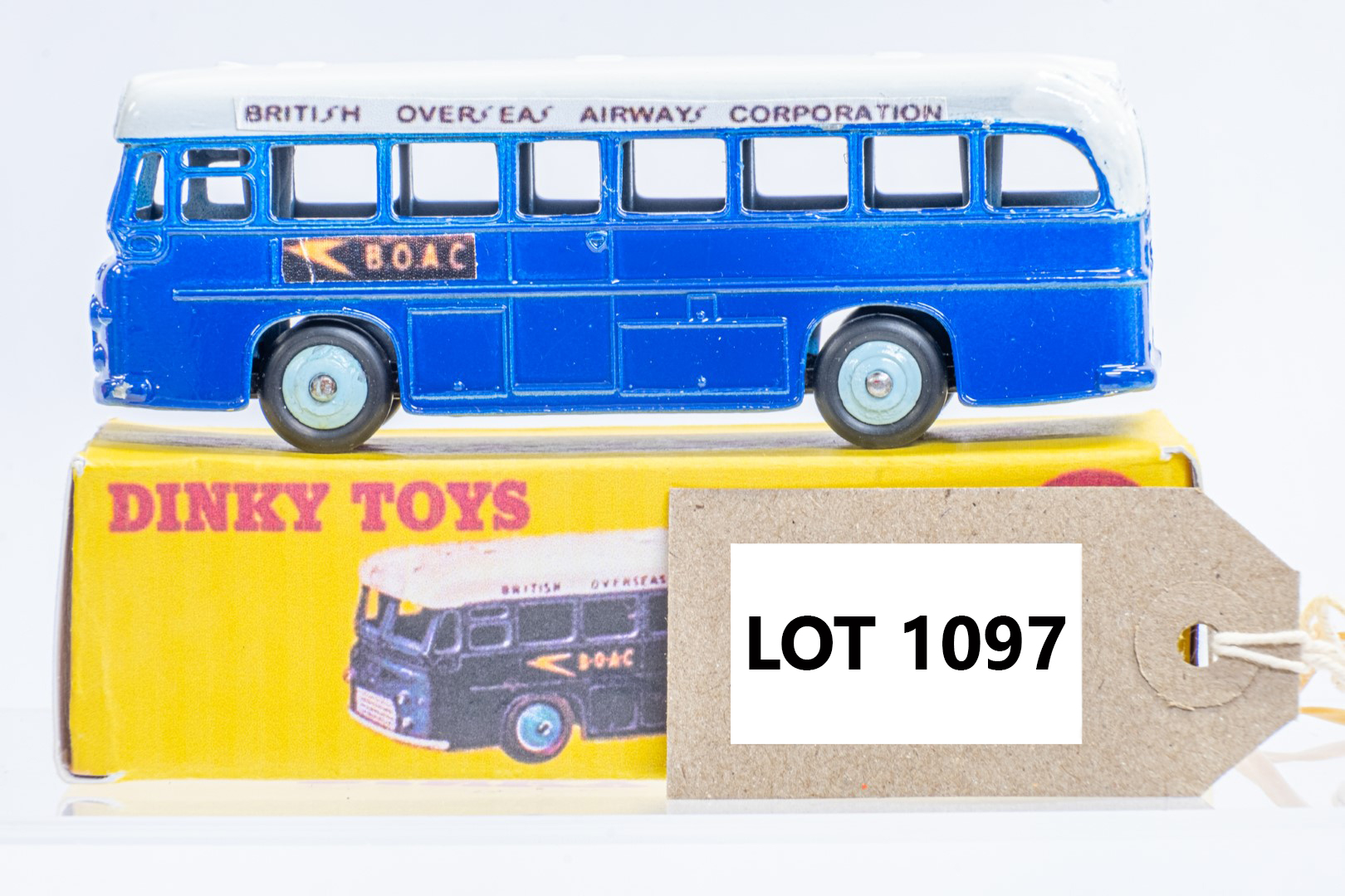 Dinky Single Decker Bus - B.O.A.C. - Code 3 & Reproduction Box