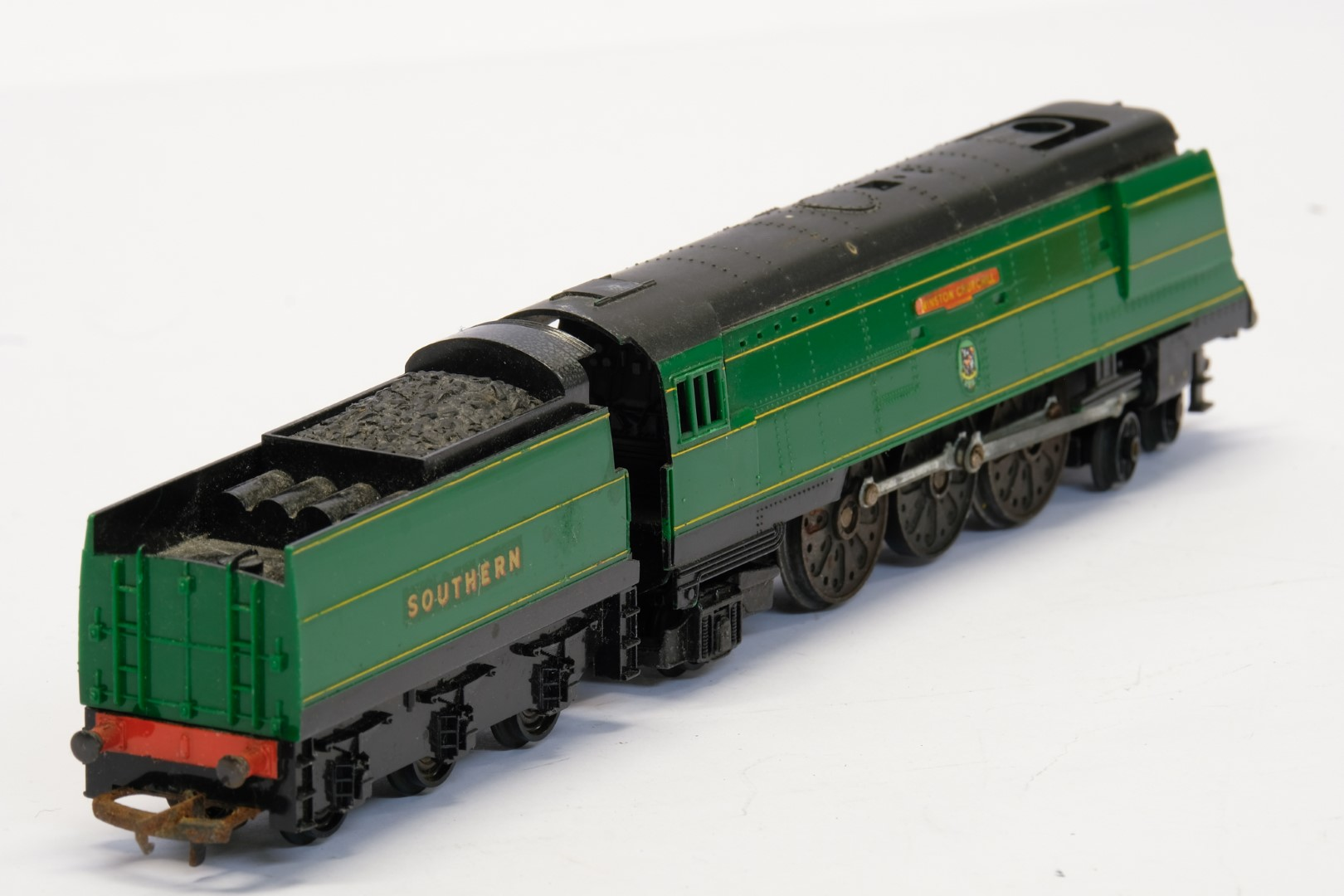 Tri-ang Winston Churchill Locomotive and Tender - Southern - 21C151 - No Box - Image 3 of 3