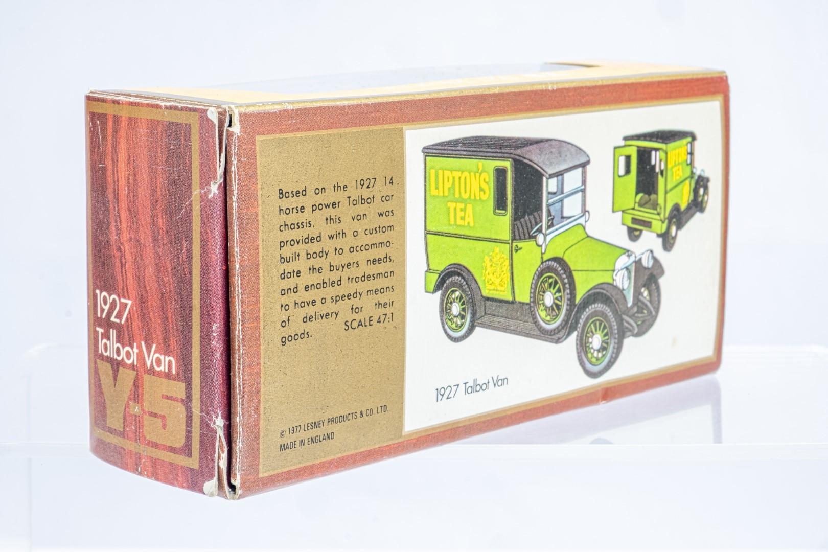 Matchbox 1927 Talbot Van Y-5 - Liptions Tea - Rare - Image 4 of 9