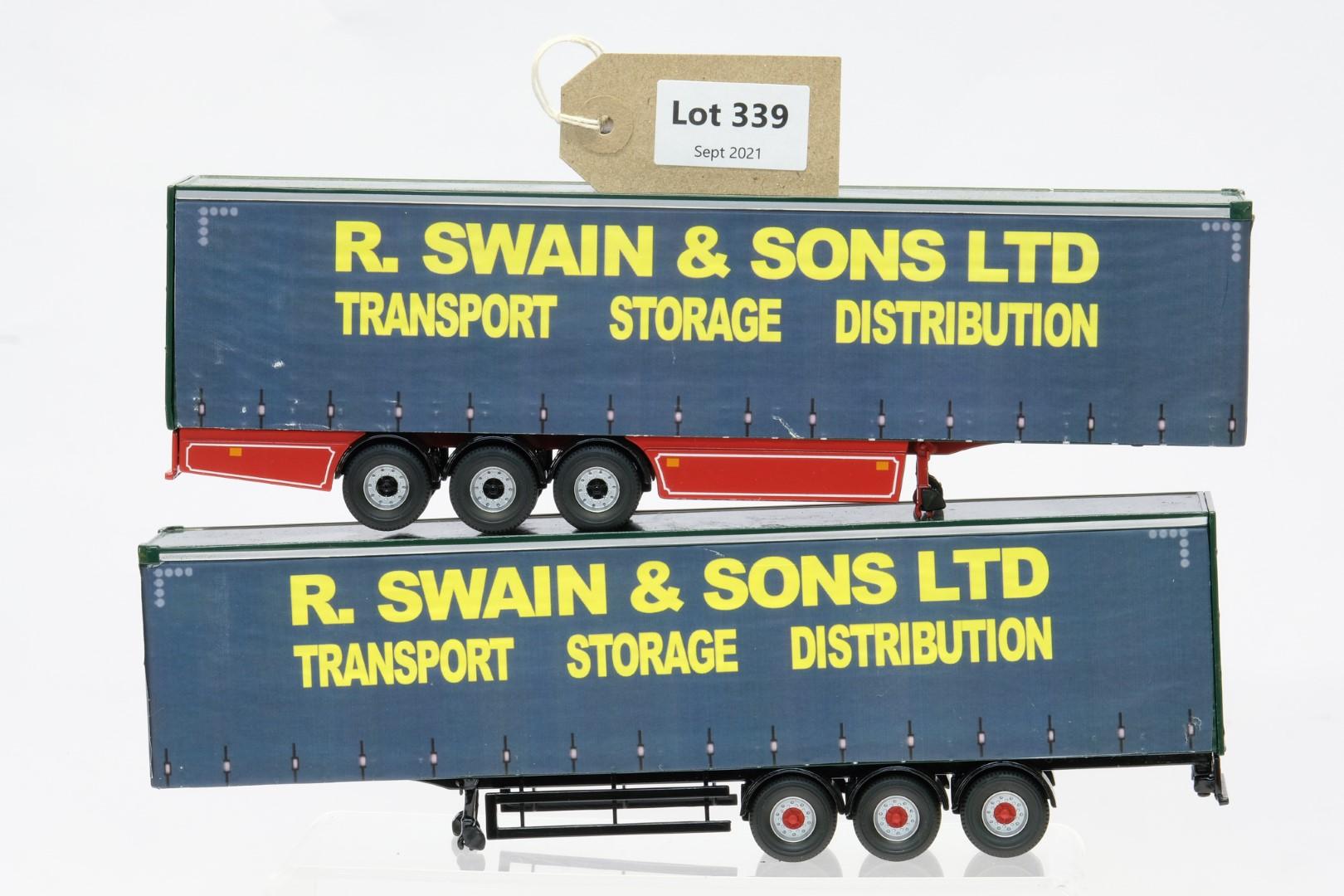 Corgi 2 x Curtainside Trailers R Swain & Sons
