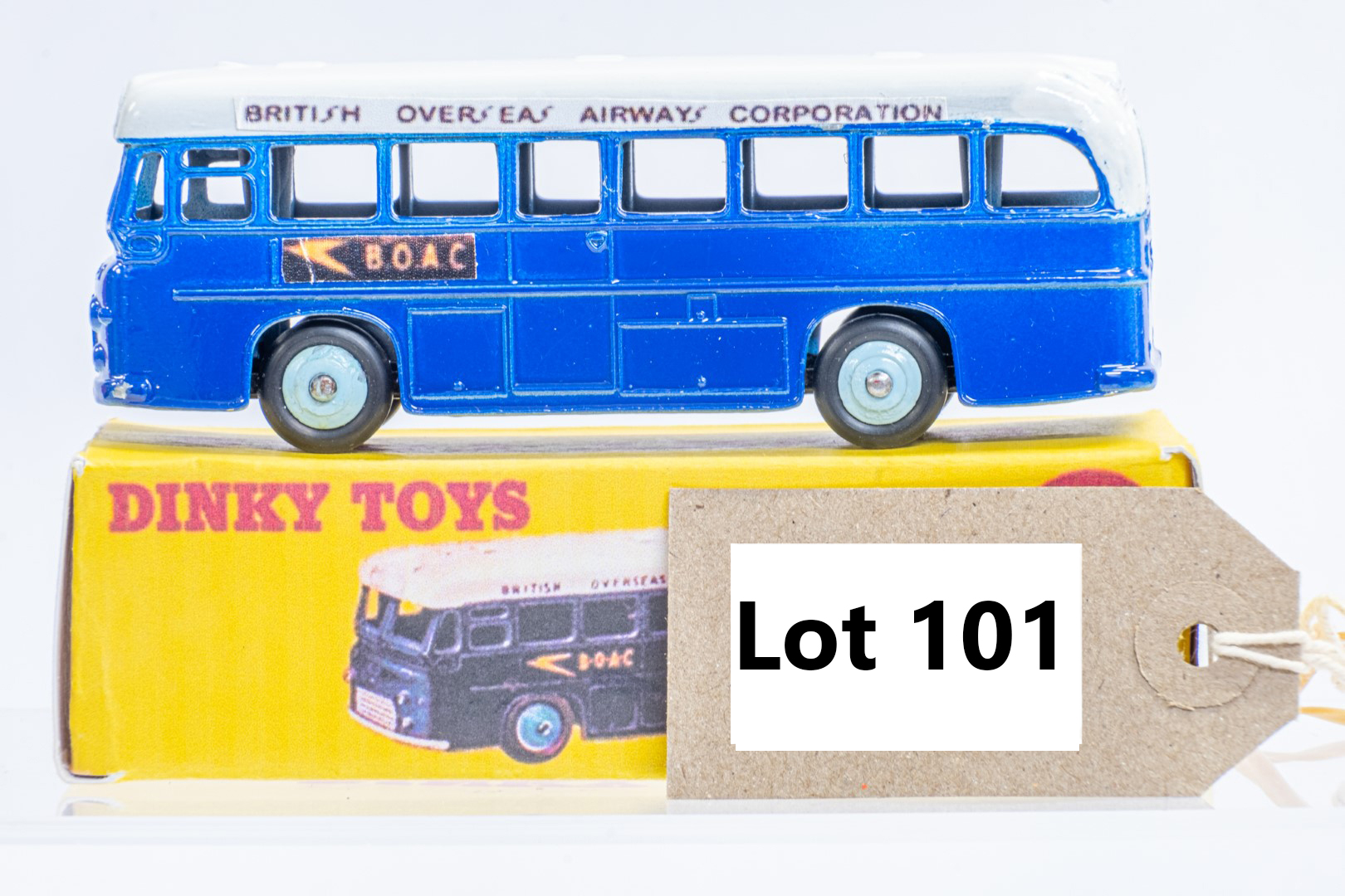 Dinky Single Decker Bus - B.O.A.C. - Code 3 & Reproduction Box - Image 4 of 7