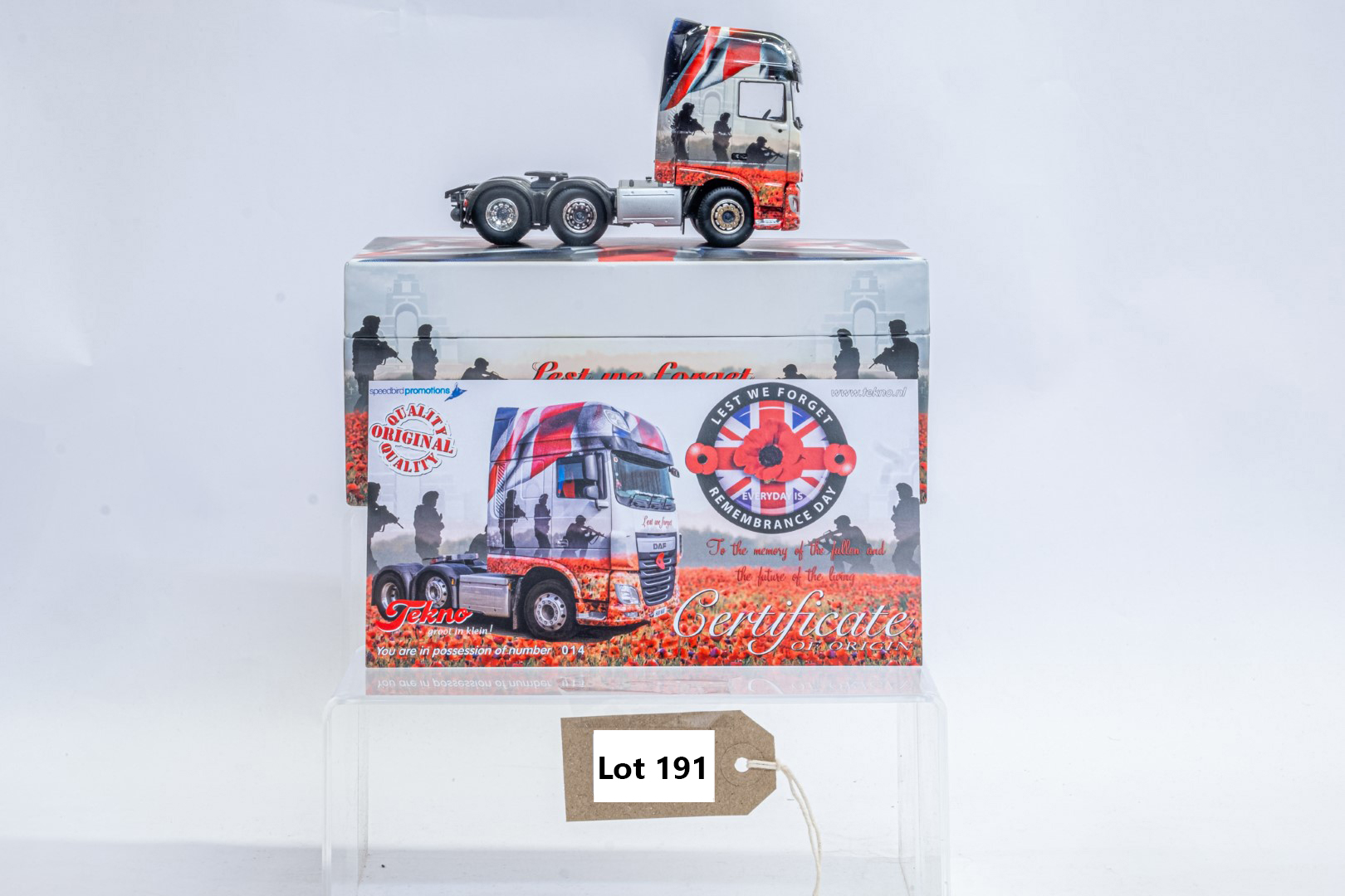 Tekno The Poppy Truck - DAF Tractor Unit In Gift Box