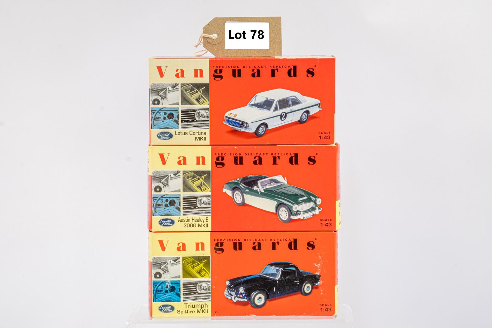 Vanguards Triumph Spitfire MKII / Austin Healey E 3000 MKII / Lotus Cortina MKII