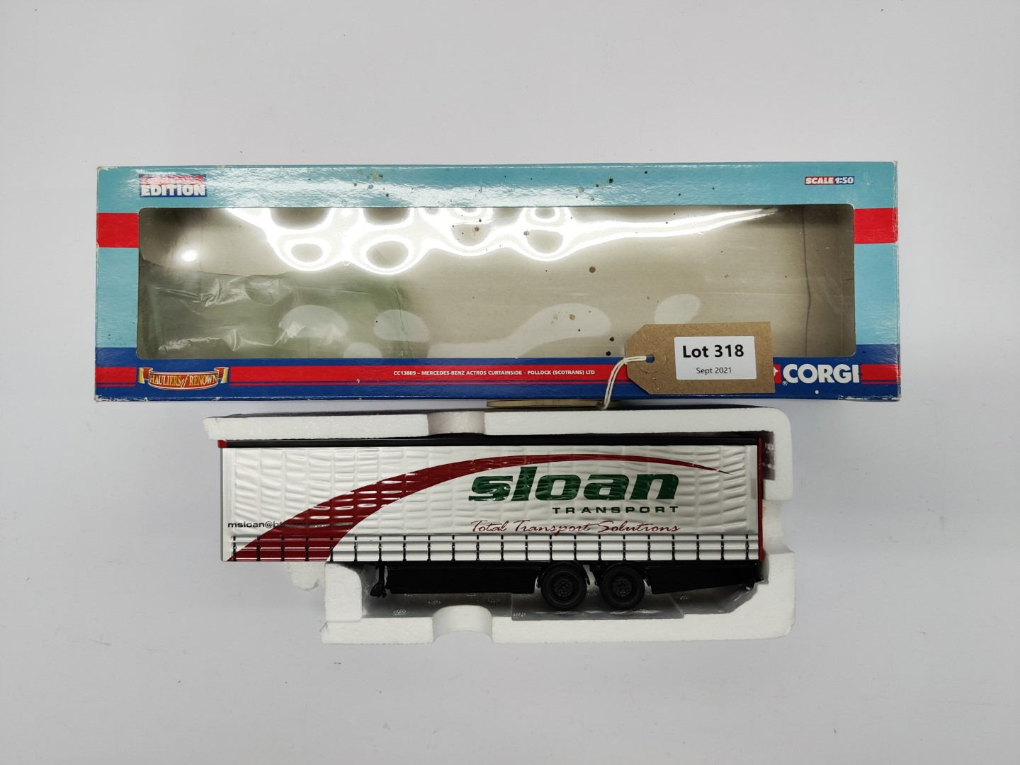 Corgi Slone Transport Curtainside Trailer - Trailer Only   In Wrong Box
