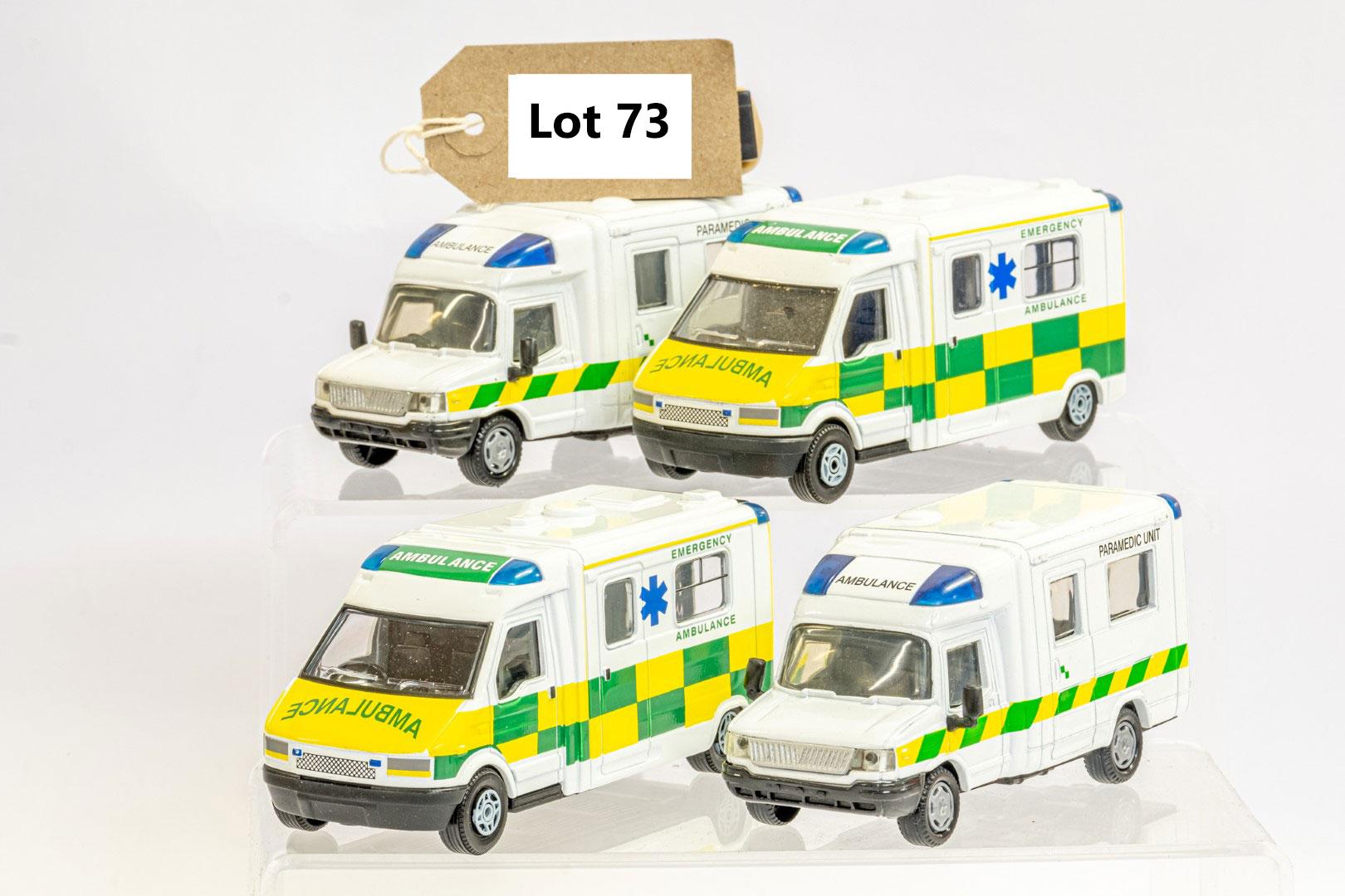 4 x Assorted Ambulance
