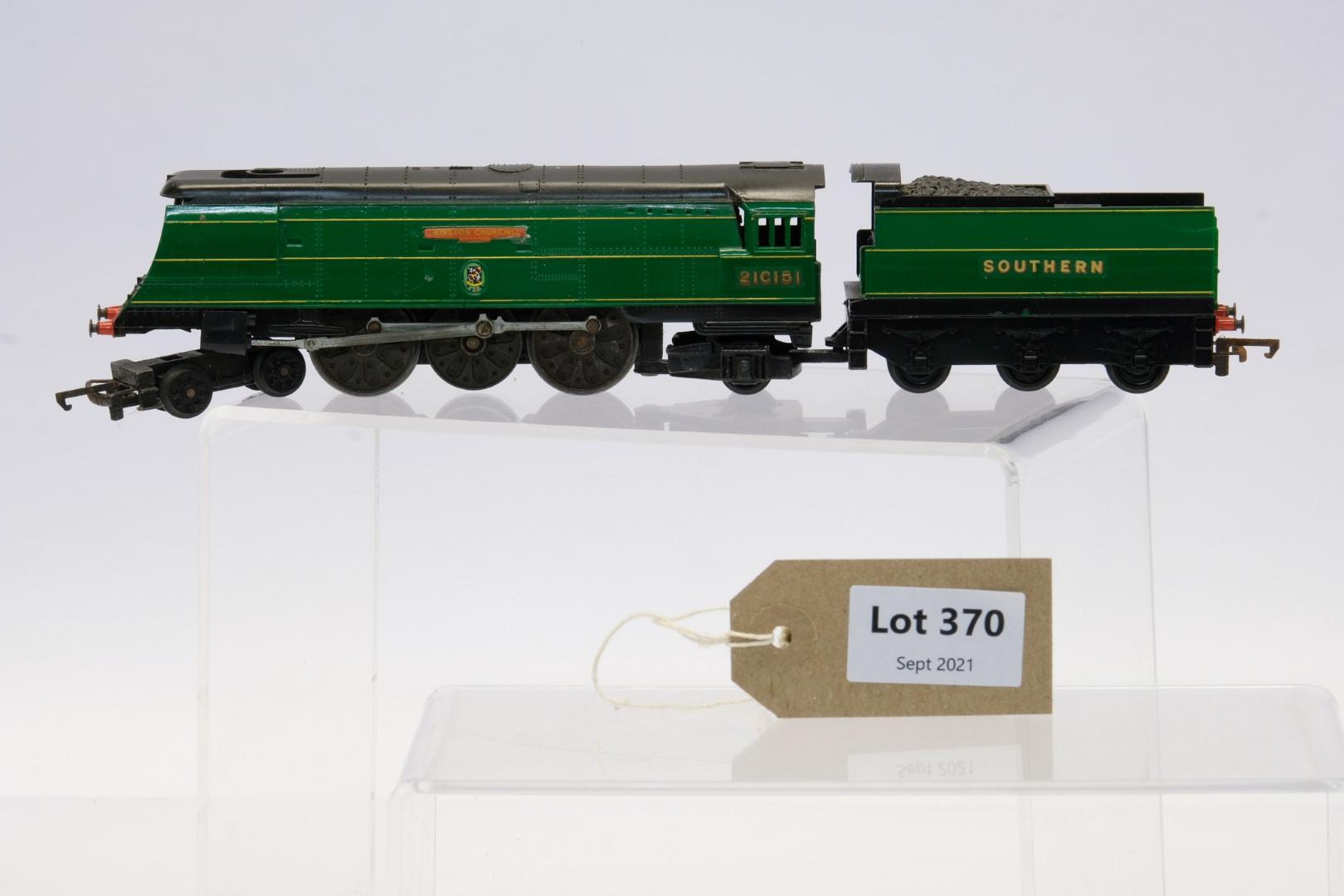 Tri-ang Winston Churchill Locomotive and Tender - Southern - 21C151 - No Box