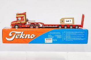 Corgi Scania 3-Series Low Loader Trailer - Sandy Kydd - In Tekno Box - Lion Toys Trailer