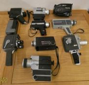 A collection of cine cameras, to include Sankyo, Prinz and Jelco.