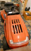 A MTD RH115B ride on mower with grass collector, Briggs and Stratton 11.5 hp motor, unused for