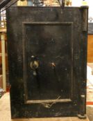 A fire safe with key lock, two drawers to the interior, 67 x 47 x 46 cm. Please note this is heavy.