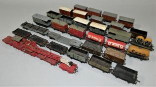 A collection of thirty Double O gauge mixed goods wagons (30).