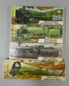 Three Airfix-00 scale unused kits, Evening Star, Saddle Tank and Prairie Tank, together with