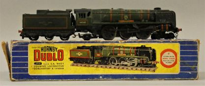 A Hornby Dublo West Country locomotive, 34042, Dorchester, box.
