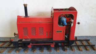 "A 5"" gauge scratch built tank engine, name plate Jilly, with petrol engine for a"