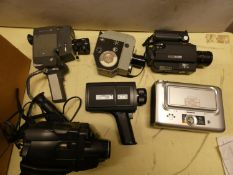 A collection of cameras, lenses & accessories, including a Zorki-4, Meikal, Itorex, Vivitar, Sony '