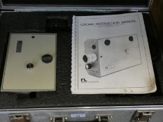 A Locam 16mm high speed motion picture camera in fitted case, instruction book, and a Philips