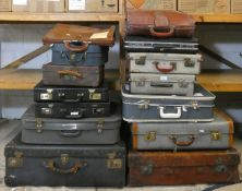 14 various suitcases and briefcases (14).
