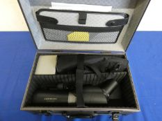 A Centon 15-45 x 60 spotting scope in hard case