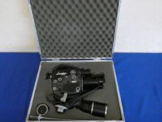 A Beauliou R16 movie camera in alloy case