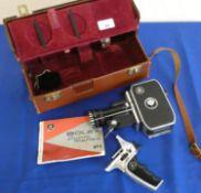 A Bolex P1 Zoom Reflex cine camera in leather case.
