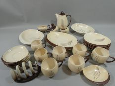 A Carltonware Australia pattern part coffee service, to include, coffee pot, cream jus on stand,