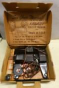A collection of boxed and unboxed cine projectors, reel to reel recorders, makers to include