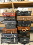 17 various suitcases and briefcases (17).