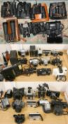 A quantity of camera's together with cased binoculars (untested) (3).