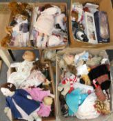 A collection of dolls, some boxed (5).