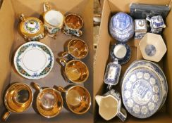 Ringtons commemorative ceramic wares by Wade & Masons, to include, collector plates, storage jars,