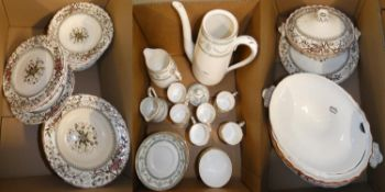 A Crown Staffordshire 16 piece coffee service, together with a Gloucester part dinner service (2)
