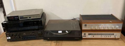 A Technics amplifier, SU-V550, JVC receiver, RX555L,