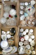 Four boxes of miscellaneous ceramic and glassware, to include a Masons fruit bowl, Royal Doulton