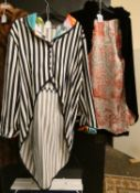 A Tabu striped jacket and other clothing.