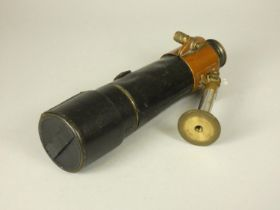 Dolland, London, a 4 drawer telescope, The Target, no. 13177, with steady support, leather cover, 78